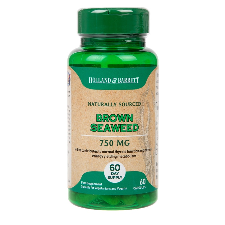 Holland & Barrett Brown Seaweed 60 Capsules 750mg
