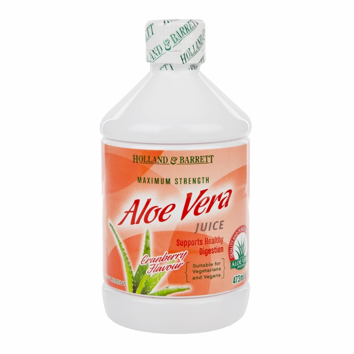 Holland & Barrett Aloe Vera Juice Drink Cranberry