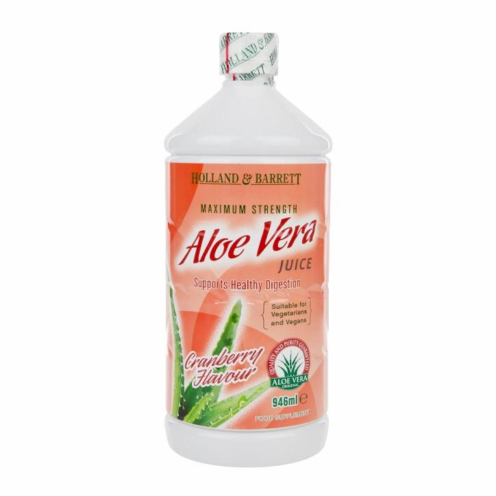 Holland & Barrett Aloe Vera Juice Drink Cranberry 946ml