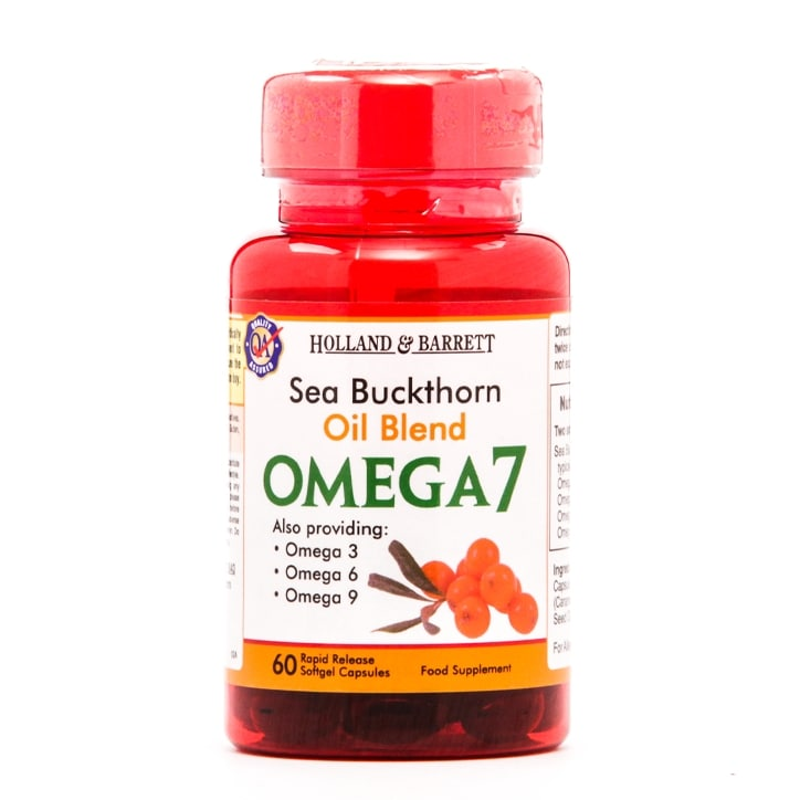 Holland & Barrett Sea Buckthorn Oil Blend Omega 7 60 Capsules