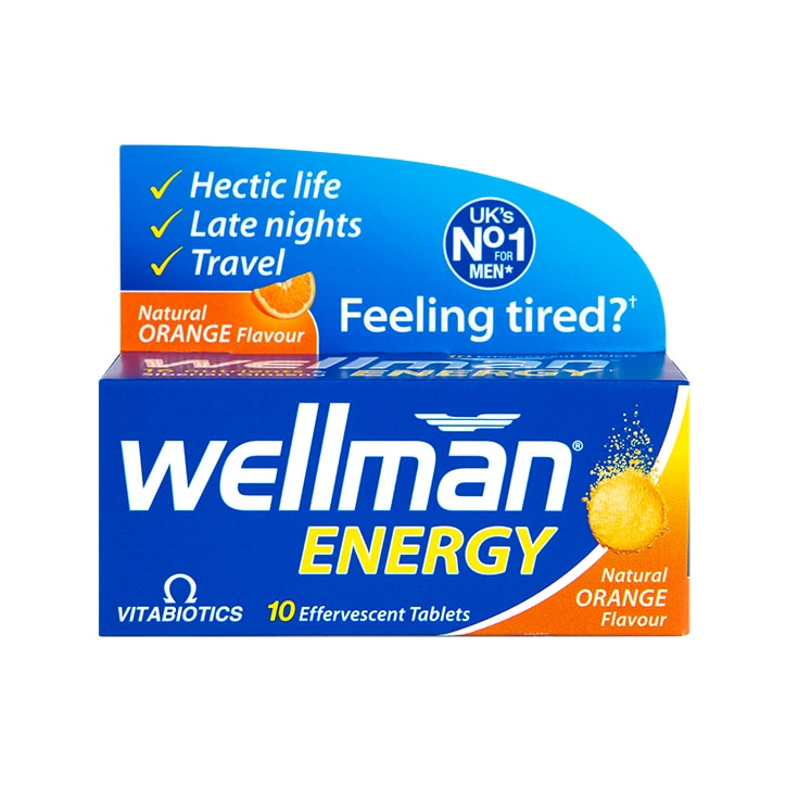 Vitabiotics Wellman Energy 10 Orange Flavour Effervescent Tablets