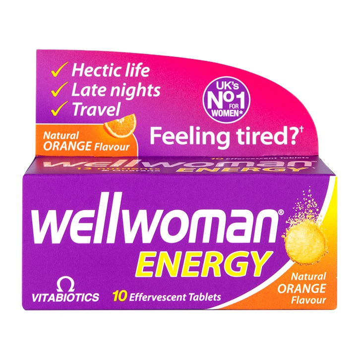 Vitabiotics Wellwoman Energy Orange 10 Effervescent Tablets
