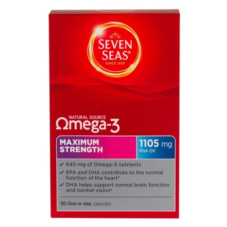 Seven Seas Omega-3 Maximum Strength 1105mg Capsules