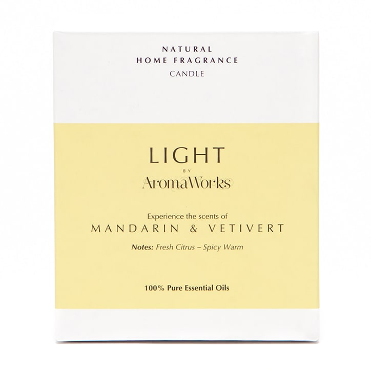 AromaWorks Mandarin & Vetivert Candle