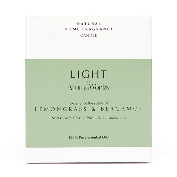 AromaWorks Lemongrass & Bergamot Candle