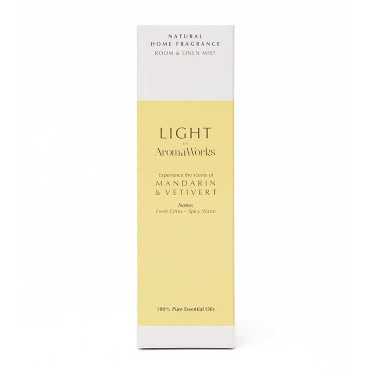 AromaWorks Mandarin & Vetivert Room & Linen Mist