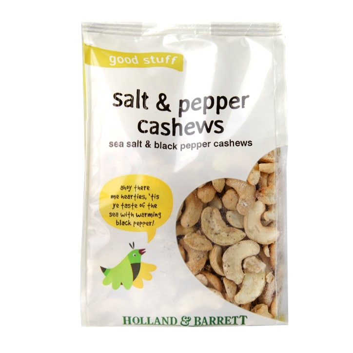 Holland & Barrett Salt & Pepper Cashew Nuts 100g