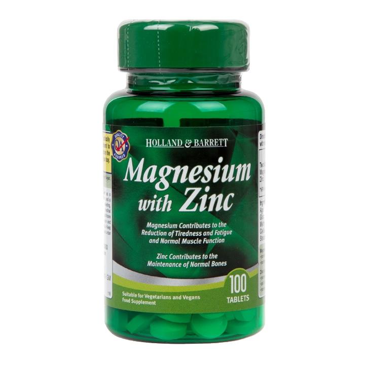 Holland & Barrett Magnesium with Zinc Tablets