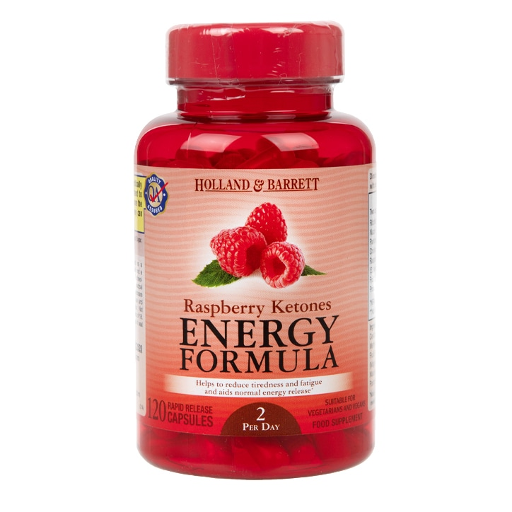 Holland & Barrett Raspberry Ketones Energy Formula 120 Capsules
