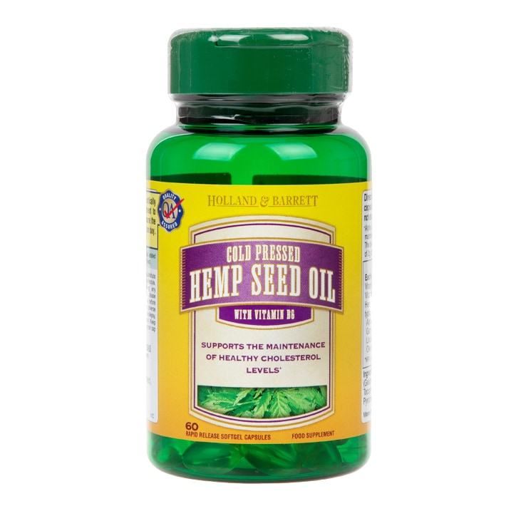 Holland & Barrett Hemp Seed Oil 60 Capsules 297mg