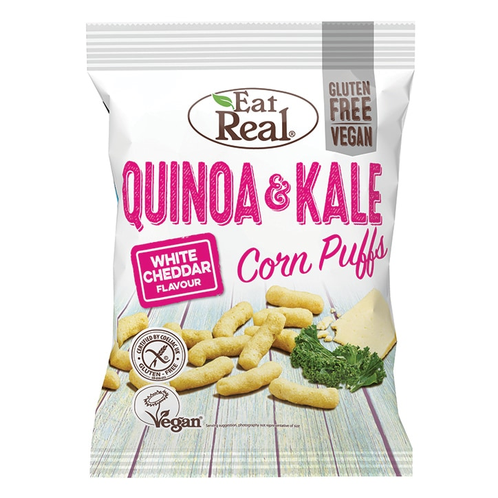 Eat Real White Cheddar Quinoa & Kale Puffs 113g