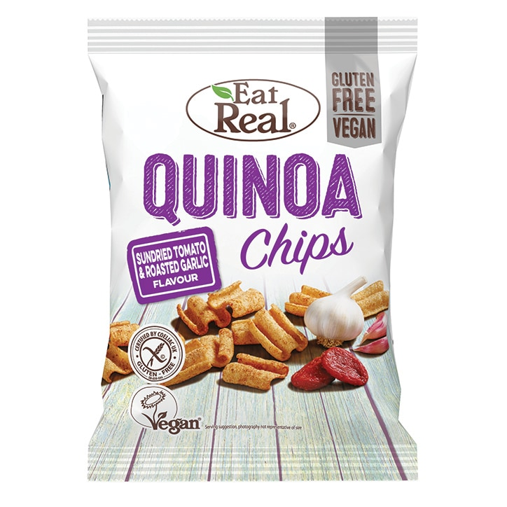 Eat Real Sundried Tomato & Roasted Garlic Quinoa Chips 80g