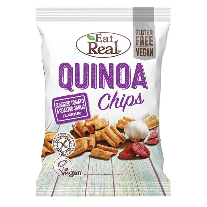 Eat Real Sundried Tomato & Roasted Garlic Quinoa Chips 80g