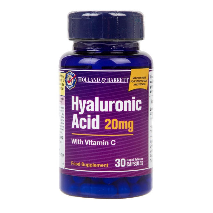 Holland & Barrett Hyaluronic Acid with Vitamin C 30 Capsules 20mg