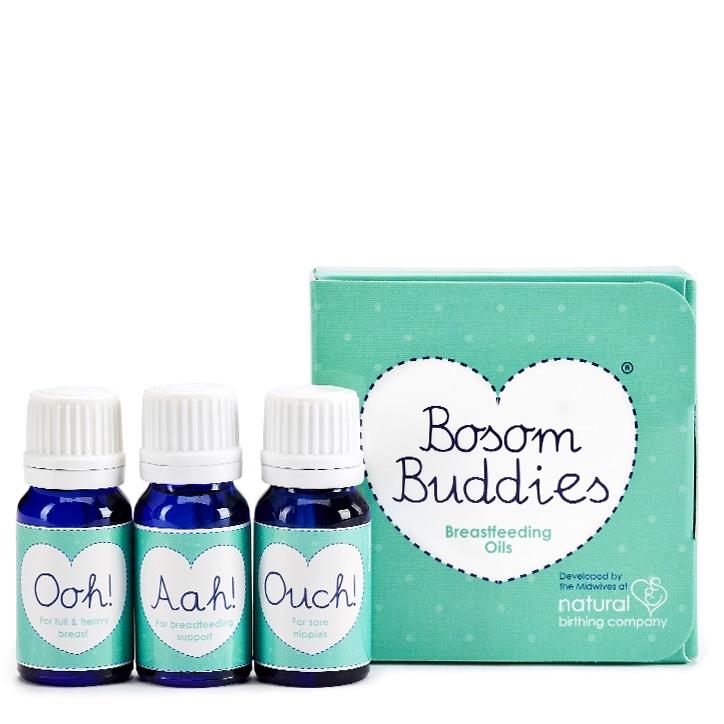 Natural Birthing Co Bosom Buddies Breastfeeding Oils 3x10ml