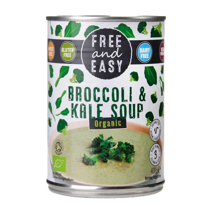 Free & Easy Organic Broccoli & Kale Soup 400g