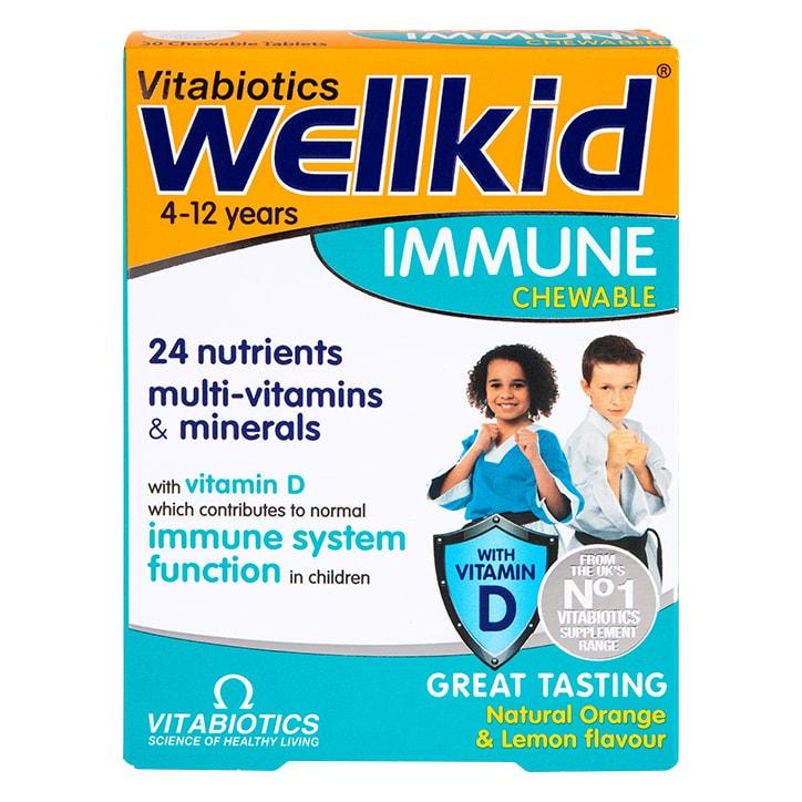 Vitabiotics Wellkid Immune 30 Chewables