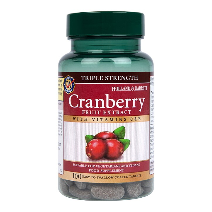 Holland & Barrett Triple Strength Cranberry Concentrate 100 Tablets by Holland & Barrett Triple Strength Cranberry Concentrate 100 Tablets
