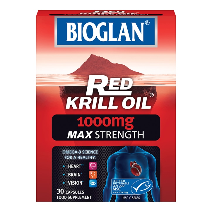 Bioglan Red Krill Oil 1000mg Max Strength 30 Capsules