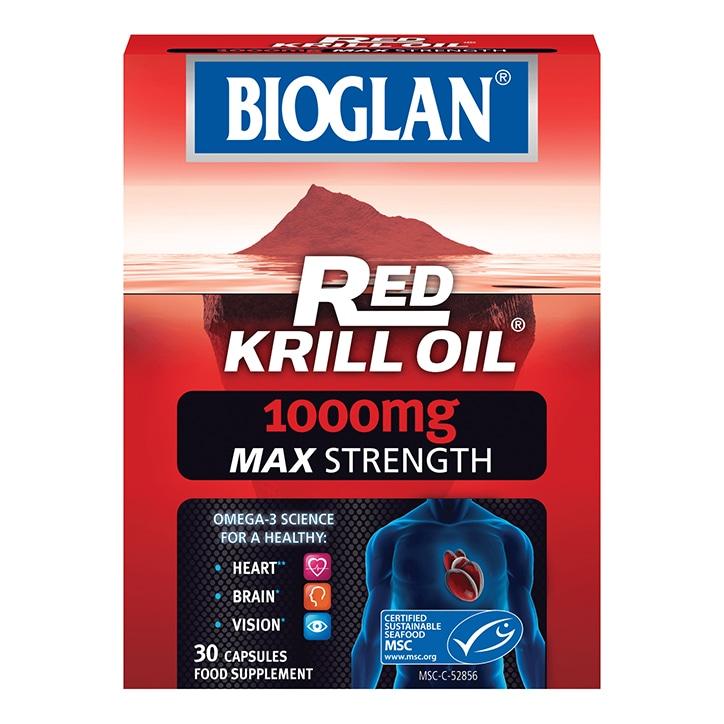 Bioglan Red Krill Oil 1000mg Max Strength Capsules