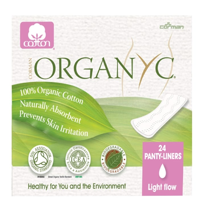 Organyc Folded Panty Liners Light Flow
