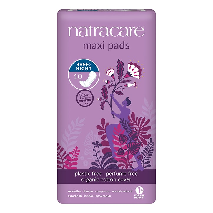 Natracare Natural Organic Maxi Pads Night Time