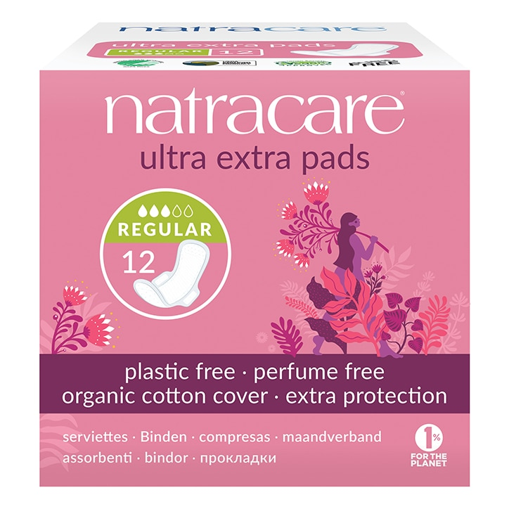 Natracare Natural Organic Ultra Extra Pads with Wings 12 Normal