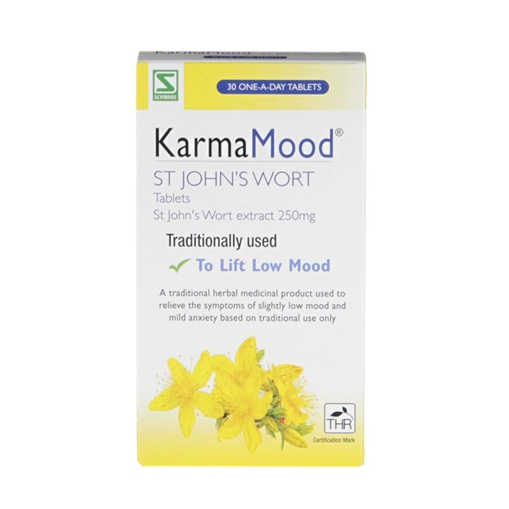 Schwabe Pharma Karma Mood St John's Wort 250mg 30 Tablets