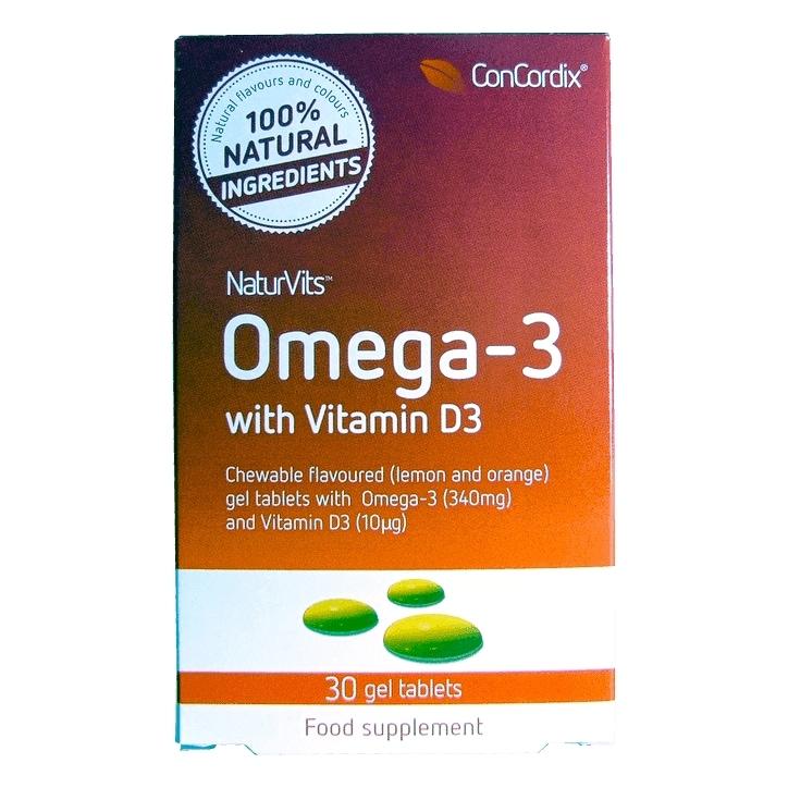 NaturVits Omega-3 + Vit D3 Adult Tablets