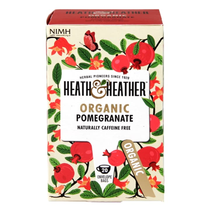 Heath & Heather Organic Pomegranate 20 Tea Bags
