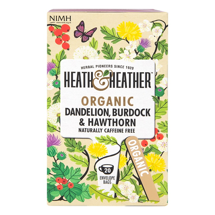 Heath & Heather Organic Dandelion, Burdock & Hawthorn 20 Tea Bags