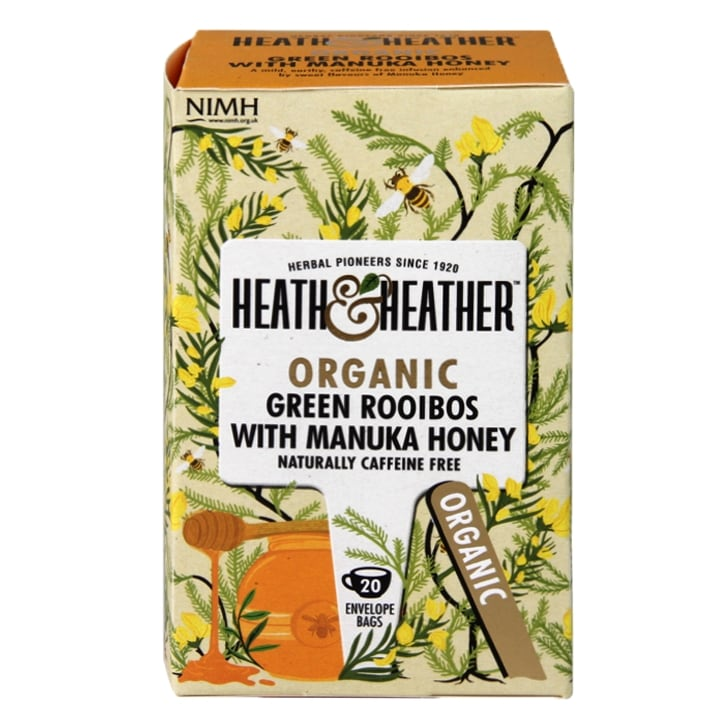 Heath & Heather Organic Green Rooibos with Manuka Honey 20 Tea Bags