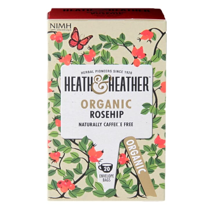 Heath & Heather Organic Rosehip 20 Tea Bags