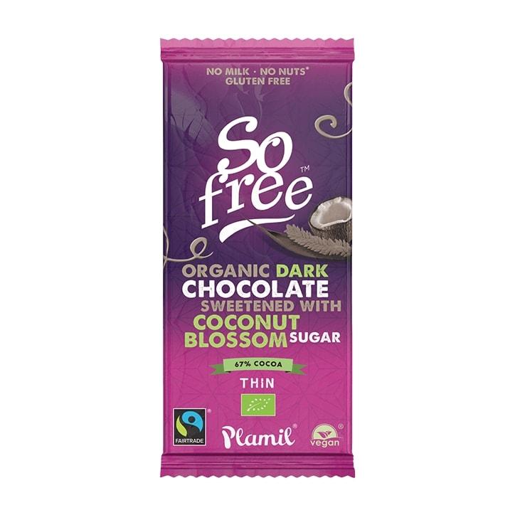 So Free Organic Dark Chocolate Bar with Coconut Sugar 80g