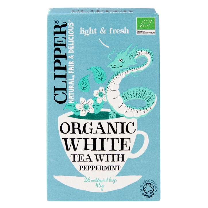Clipper Organic White Tea With Natural Peppermint 20 Tea Bags