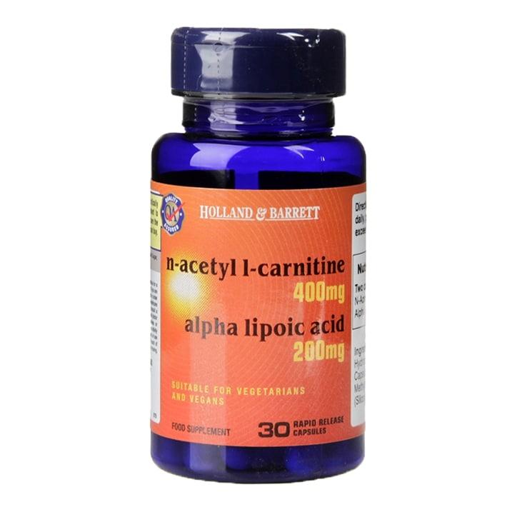 Holland & Barrett Acetyl L-Carnitine and Alpha Lipoic Acid 30 Capsules