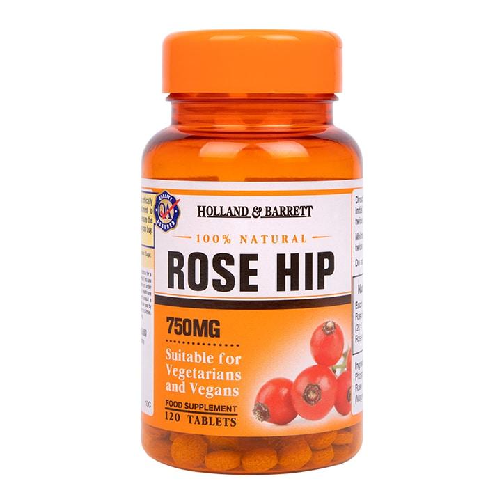 Holland & Barrett Rose Hip 120 Tablets 750mg
