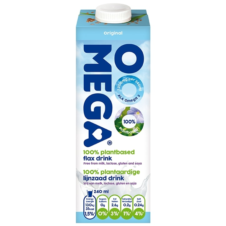 Ooomega 100% Plantbased Flax Drink Original