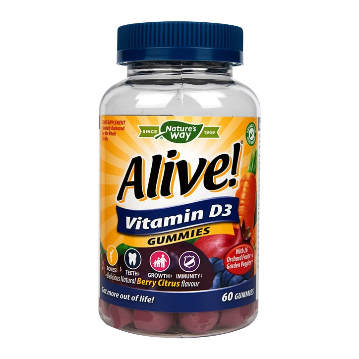 Nature's Way Alive! Vitamin D3 60 Soft Jells