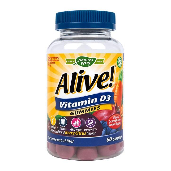 Nature s Way Alive! Vitamin D3 60 Soft Jells £14.99 d9461f8609c9f