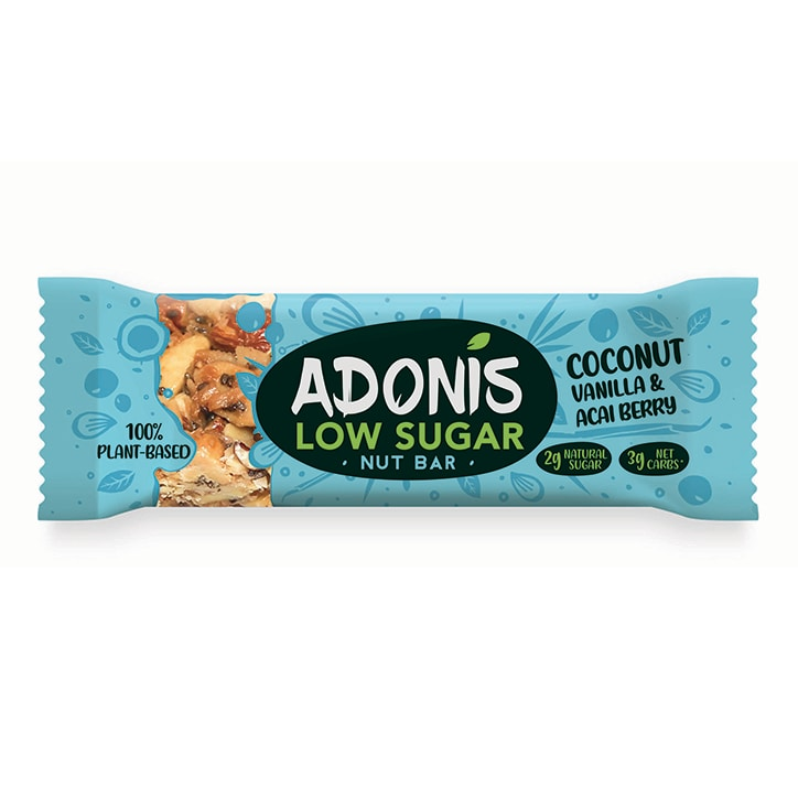 Adonis Coconut, Vanilla & Acai Berry Nut Bar 35g
