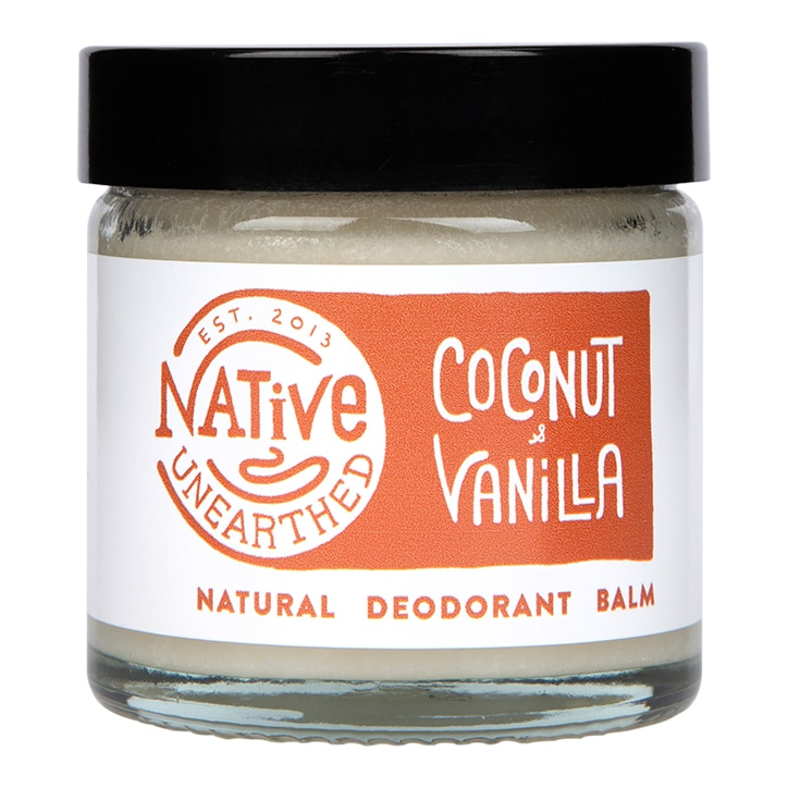Native Unearthed Natural Deodorant Balm Coconut & Vanilla 60g
