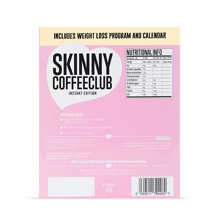 Skinny Coffee Club 28 Day Program Instant Edition