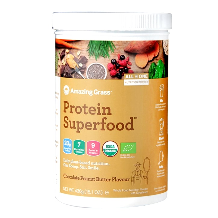 Amazing Grass Protein Superfood Chocolate Peanut Butter 430g