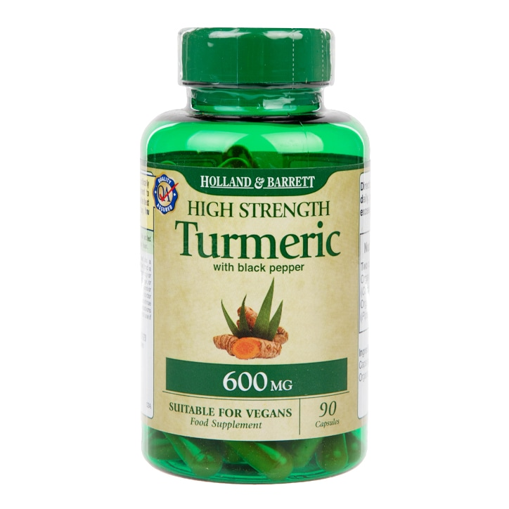 Holland & Barrett High Strength Turmeric with Black Pepper 90 Capsules 600mg