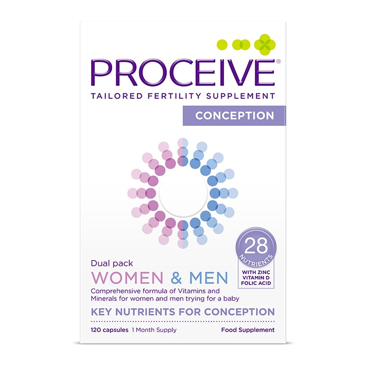 Proceive Women & Men Dual Pack Advanced Fertility Supplement 60 Capsules