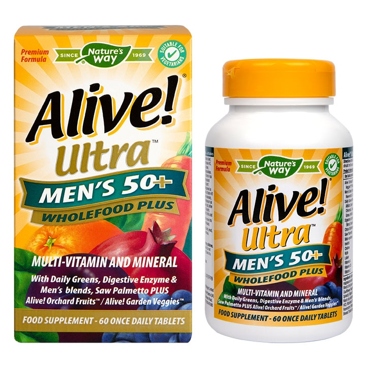 Nature's Way Alive! Men's 50+ Ultra Multi Vitamins 60 Tablets