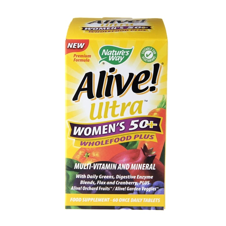 Nature's Way Alive! Women's 50+ Ultra Energy 60 Tablets