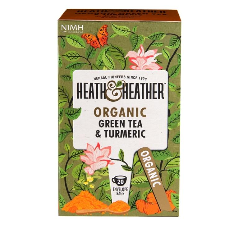 Heath & Heather Organic Green Tea & Turmeric 20 Tea Bags