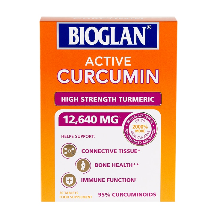 Bioglan Active Curcumin High Strength Turmeric 30 Tablets